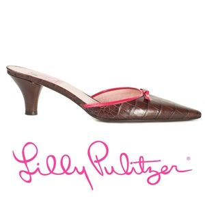 Lilly Pulitzer Heel, Pointy Toe Mules